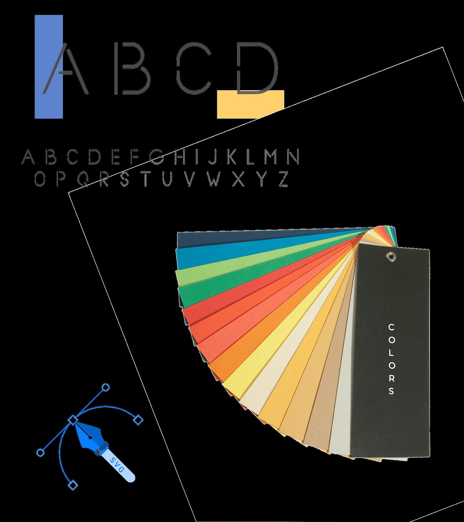 Open Balise Création Logo - Colors Font SVG